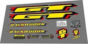 1998 GT Backwoods DECAL SET