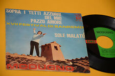 "DOMENICO MODUGNO  7"" 45 SOLE MALATO 1°ST ORIG 1965 TOP RARE"