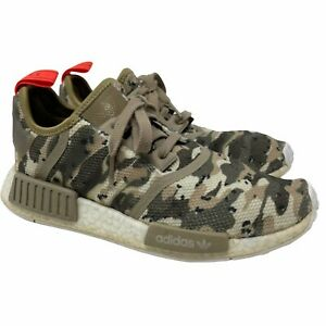 Adidas Originals Men's 7 NMD R1 Camo Clear Brown Running Shoes Tan Lace Up