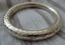SILPADA STERLING SILVER HAMMERED BIG BOLD ROUND BANGLE BRACELET B1653 CLASSIC