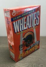 Vintage Wheaties Cereal w/ St. Louis Rams 1995 18 oz Full Box Factory Sealed