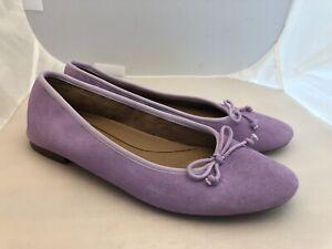 Aerosoles Womens Homerun Purple Lilac Ballet Flats Size 10 W Shoes NEW