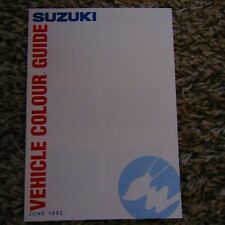 SUZUKI Swift Samurai Vitara Soft Top PAINT COLOUR Guide Brochure June 1993