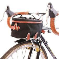 ZIMBALE Bicycle Waterproof Canvas Front Rackbag - 2 Liter Capacity Black Green