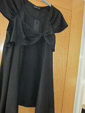 Ladies Vero Moda Black Bow Tunic Top in Size M (New with Tags)