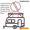 1 Pair Gas Struts 300mm long x 250N Caravan Camper Trailer Tradesmen Tool Boxes