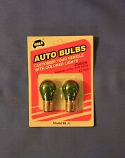 Green Incandescent 1157 Auto Light Bulb ~ ~Twist in ~ New ~ (2 pack)
