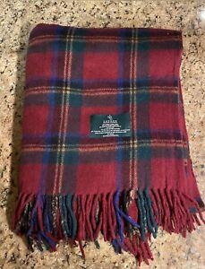 Lauren Ralph Lauren Wool Blend Tartan Plaid Throw Blanket 50 x 69 Inch