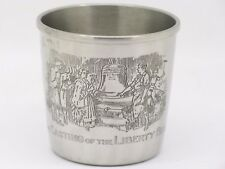 """GORHAM PEWTER CUP """"THE CASTING OF THE LIBERTY BELL"""""""