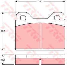 TRW Front Rear Brake Pads Set GDB112 - BRAND NEW - GENUINE - 5 YEAR WARRANTY