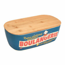 Brotkasten Bambus Boulangerie blau Vintage Retro Design Natives