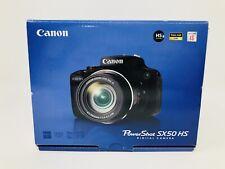 Canon PowerShot SX50 HS 12.1MP Digital Camera W/ Box & Papers- Black - Excellent