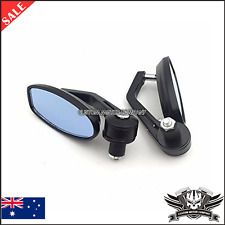 Black Reverse Retro Bar End Mirrors Ducati Monster 600 1100 796 696 1100 evo