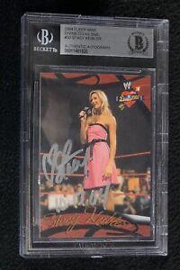 Stacy Keibler Signed 2004 Fleer WWE Divine Divas Card #30 Beckett Certified