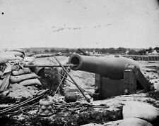 New 8x10 Civil War Photo: Cannon Gun at Confederate Fortifications, Yorktown