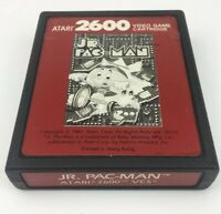 JR PAC-MAN Atari 2600 Game Cartridge Cleaned Tested Working Red Label Rare