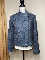 Banana Republic Wool Motorcycle Jacket Size 8