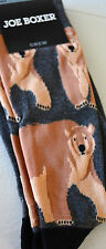 BEAR Socks Joe Boxer Novelty Animal Safari Geek Chic Themed Mens Crew Socks #BY