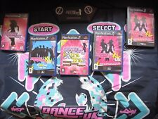 PS2 DANCE:UK  DANCE Mat 5 x DANCE GAME uk BUNDLE -XL Megamix Dancing Playstation