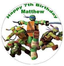 """Teenage Mutant Ninja Turtle Personalised Cake Topper Edible Wafer Paper 7.5"""""""