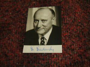 Georg Diederich CDU Orginal Autogramm auf Autogrammkarte