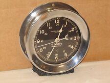 New listing Chelsea U.S.Navy Ships Clock~6 in~Circa 1942~Ww2~Restored