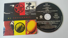 "U2 ""PREVIOUSLY"" 5trk EU PROMO CD 1996"