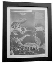GENTLE GIANT+Octopus+POSTER+AD+RARE ORIGINAL 1972+FRAMED+EXPRESS GLOBAL SHIP
