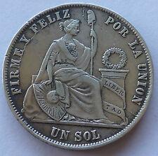 PERU / PEROU : 1 sol 1871
