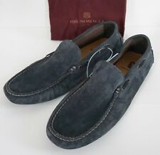 New Authentic BRUNO MAGLI Gray Suede Loafer Moccasins Slip-On Shoes 10M