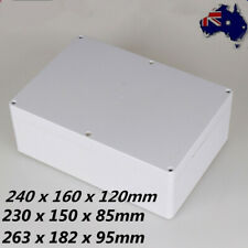Waterproof ABS Electronic Project Enclosure Plastic Case Screw Junction Box AU