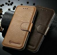 iPhone 6 6S+Plus Genuine Leather Wallet Case Protective Folio Cover Card Holder