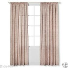 NATE BERKUS NEUTRAL WHITE DIAGONAL PRINT WINDOW PANEL CURTAIN ONE 54 X 84