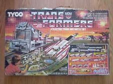1985 Tyco Transformers Electric Train Battle Set w/box Generation One G1