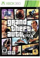Grand Theft Auto V Five GTA 5 Xbox 360 Game Complete With Map