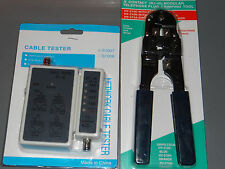 Network Cable Tester with RJ-45 Crimping Tool