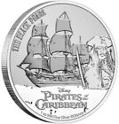 2021 1 Oz Silver $2 Niue Disney Pirates Of The Caribbean THE BLACK PEARL BU Coin