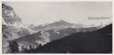 D8436 La testata della Conca del Breuil - Stampa d'epoca - 1936 vintage print