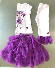 naartjie Size 6 EUC Jie Jie 3pc set purple bike spring top pant skirt
