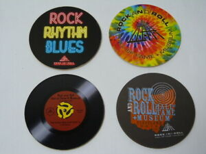 NEW* 4 x Rock and  Roll Hall of fame Cleveland collectible coasters