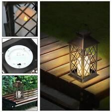 Waterproof LED Solar Powered Hanging Candle Lantern Lights Garden Outdoor Lamp