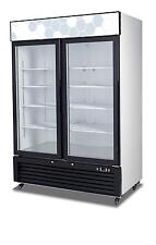 Migali C-49Rm-Hc 49 Cu.ft Ss Reach-In Refrigerator Two Hinged Glass Door