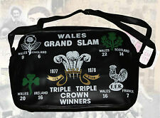 Galles Grande Slam 1978 Vintage Originale Borsa a tracolla Nero/Borsone