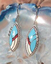 Orecchini bianco blu accessorio indiano indiana stile argento 925 smaltato