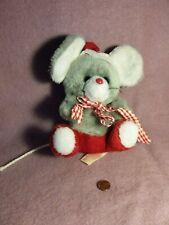 """New listing Vintage 7"""" Russ Rupert Santa Mouse Nutshells plush stuffed animal toy"""