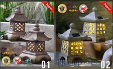 More details for 2x japanese solar zen garden lanterns pagoda garden lights super gift !!!