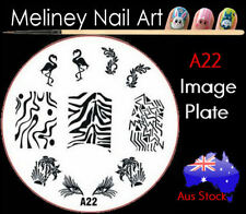 A22 Stamping Nail Art Image Plate Design Round XL Stencil metal