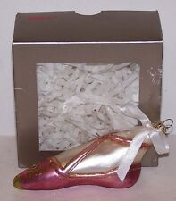 Beautiful Htf Nordstrom At Home Poland Ballet Slipper Glass Ornament In Box