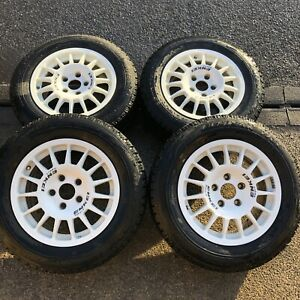 Enkei Sport Motorsport Competition Rally 15 Inch Alloy Wheels Gravel 5x114 GD VW