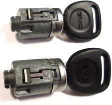 2 NEW GMC GM OEM Door Lock Cylinder W/2 GMC Ebony Logo Keys - MADE IN USA